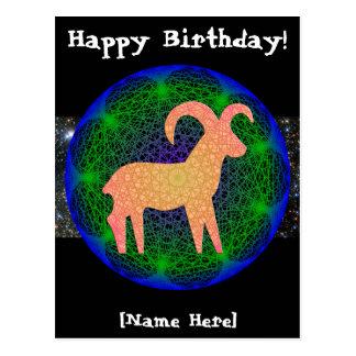 Cartão do aniversário do Aries