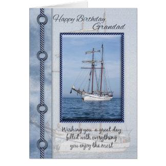 Cartão do aniversário do iate do Grandad