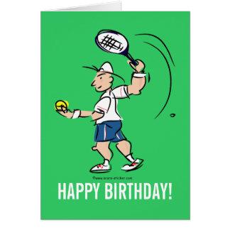 Cartão do aniversário para o jogador de ténis