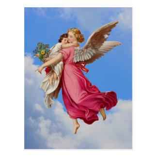 Cartão do anjo-da-guarda e da criança