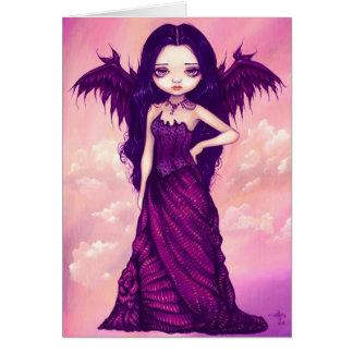 """""""Cartão do anjo violeta"""" Cartão Comemorativo"""
