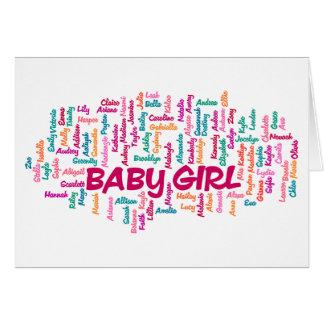 Cartão do anúncio da gravidez do bebé