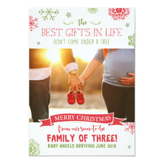 Cartão do anúncio da gravidez do Feliz Natal