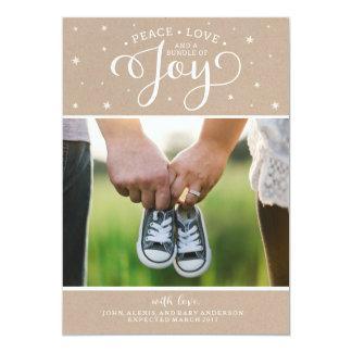 Cartão do anúncio da gravidez do Natal de Kraft Convite 12.7 X 17.78cm