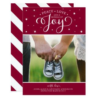 Cartão do anúncio da gravidez do Natal do arando Convite 12.7 X 17.78cm