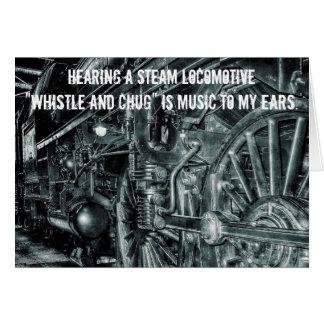 Cartão do assobio & do Chug da locomotiva de vapor