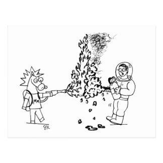 Cartão do atirador de chama