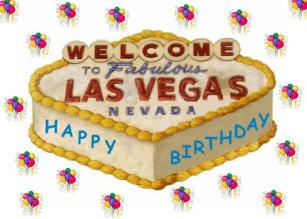 Cartão do AZUL do bolo do feliz aniversario de Las 74efb8c205c28