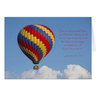 Cartão do balão de ar quente