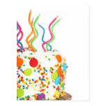Cartão do bolo de aniversário cartao postal