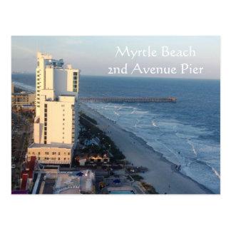 Cartão do cais da avenida de Myrtle Beach ò