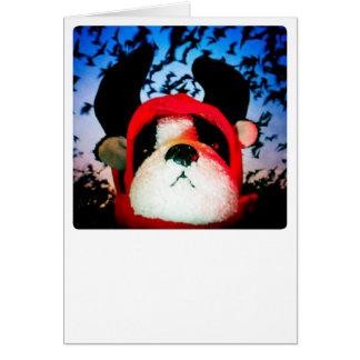 Cartão do cão de diabo