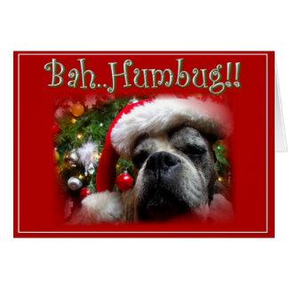 Cartão do cão do pugilista do Natal