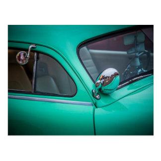 Cartão do carro vintage - cerceta