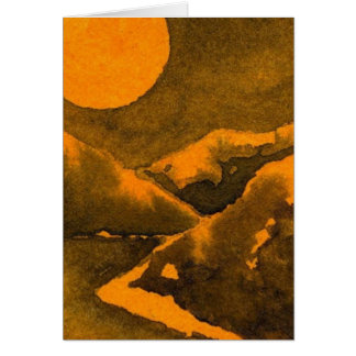 """Cartão Do """"cartão das estradas secundárias da lua"""