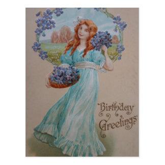 Cartão do cartão de cartões de aniversários do cartão postal
