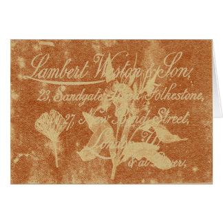 Cartão do cartão telefónico 2 do vintage