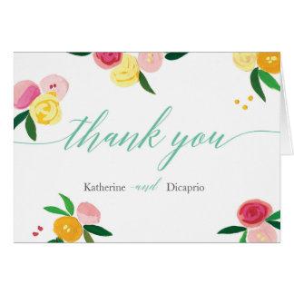 """Cartão Do """"cartões de agradecimentos do casamento do"""