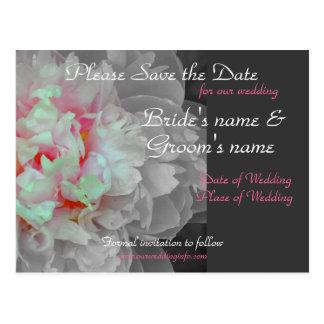 Cartão do casamento da peônia cartão postal