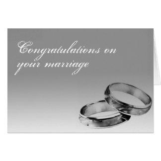 Cartão do casamento das felicitações