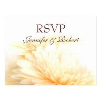 Cartão do casamento dourado RSVP Cartão Postal