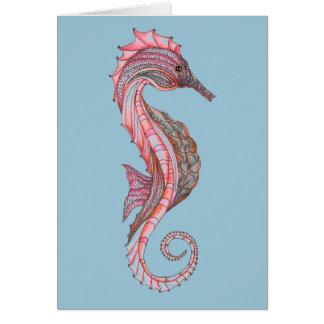 Cartão do cavalo marinho