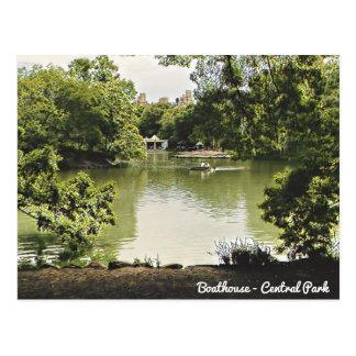 Cartão do Central Park do Boathouse Cartão Postal