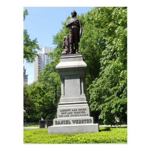 Cartão do Central Park NY da estátua de Daniel Web Cartao Postal