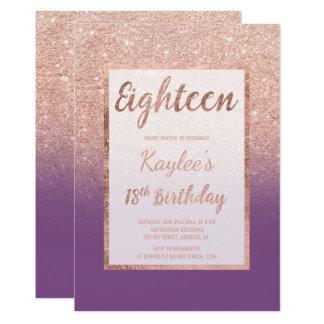 Cartão Do chique roxo cor-de-rosa do brilho do ouro do