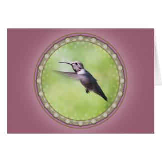 Cartão do colibri de Anna