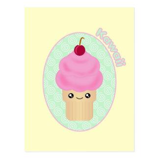 Cartão do cone do sorvete de Kawaii