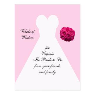 Cartão do conselho do chá de panela - vestido
