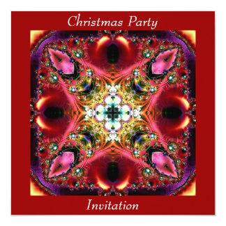 Cartão do convite da festa de Natal
