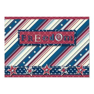 Cartão do convite da listra da liberdade