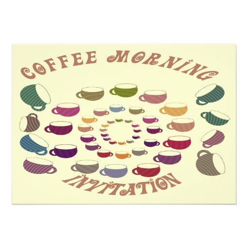 Cartão do convite da manhã do café