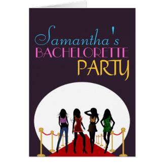 Cartão do convite da noite da festa de