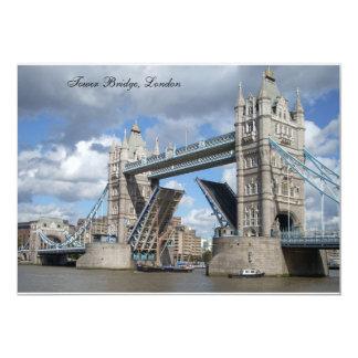 Cartão do convite da ponte da torre