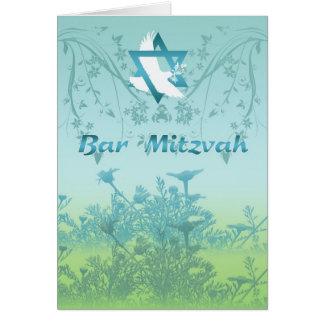 Cartão do convite de Mitzvah do bar para a cerimón
