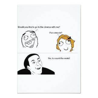 Cartão do convite de TNIT (filmes cómicos da