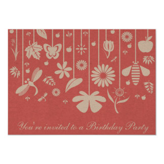 Cartão do convite do aniversário