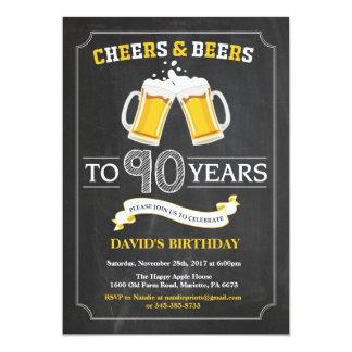 Cartão do convite do aniversário do 90 dos elogios