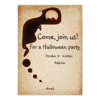 Cartão do convite do Dia das Bruxas