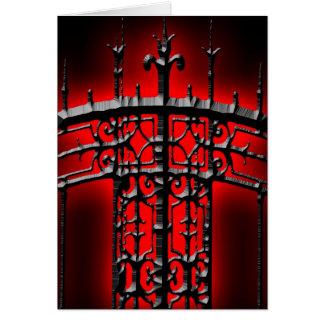 Cartão do convite do Dia das Bruxas da cerca do fe