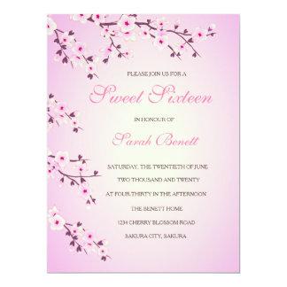 Cartão do convite do doce dezesseis das flores de
