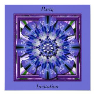 Cartão do convite do efeito de Blueflower 3D