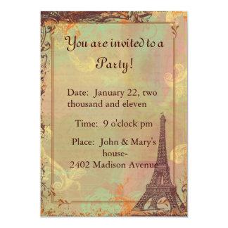 Cartão do convite do estilo do vintage da torre