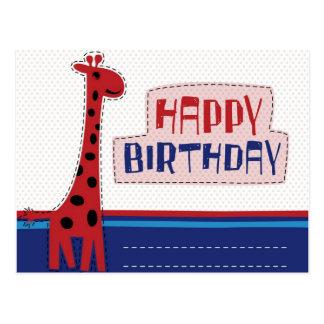 cartão do convite do feliz aniversario cartão postal
