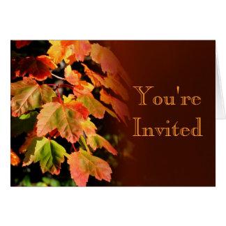 Cartão do convite do outono