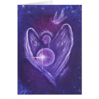Cartão do coração do anjo