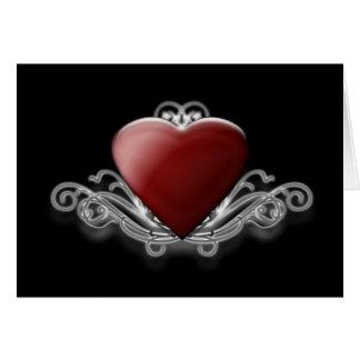 Cartão do coração dos namorados